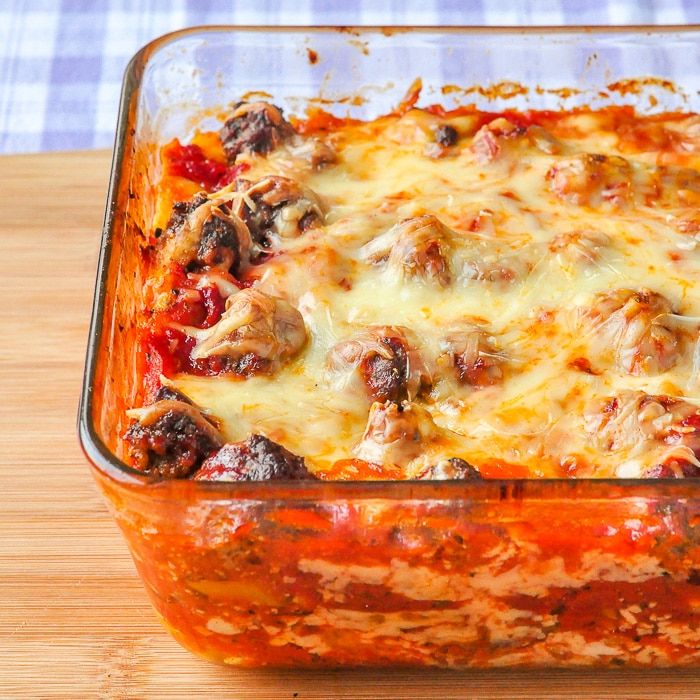 Pizza Lasagna fresh from the oven