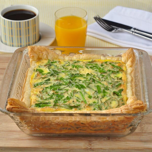 Parmesan Spinach Quiche