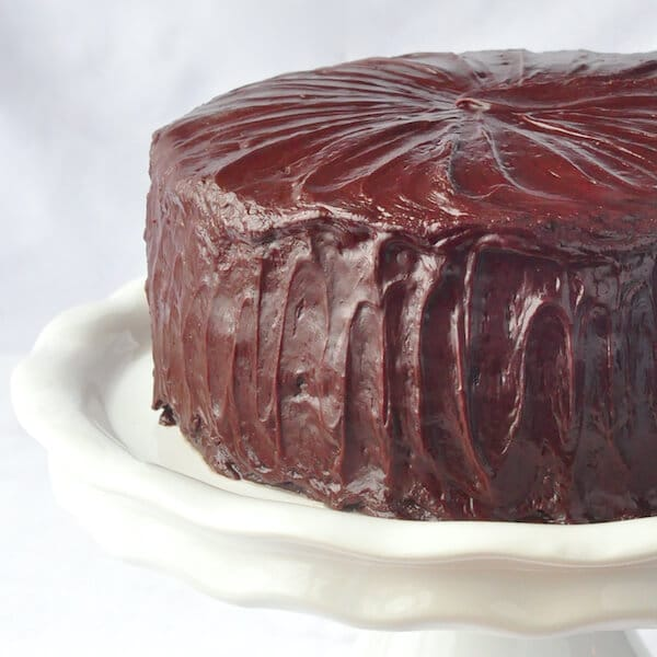 Chocolate Fudge Cake With Easy Frosting