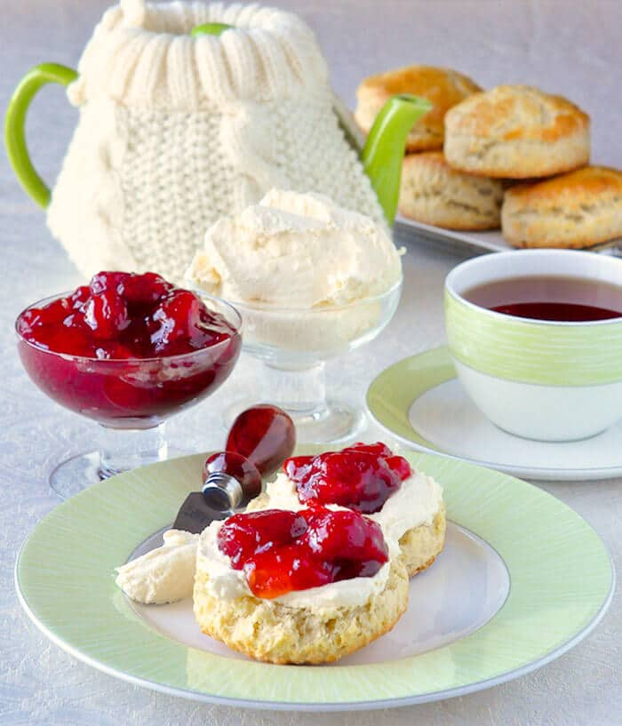 Homemade Clotted Cream on Proper English Scones