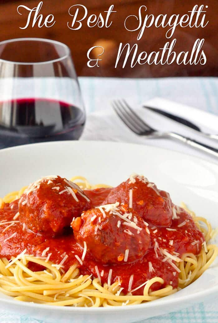 The Best Spaghetti and Meatballs image with title text.