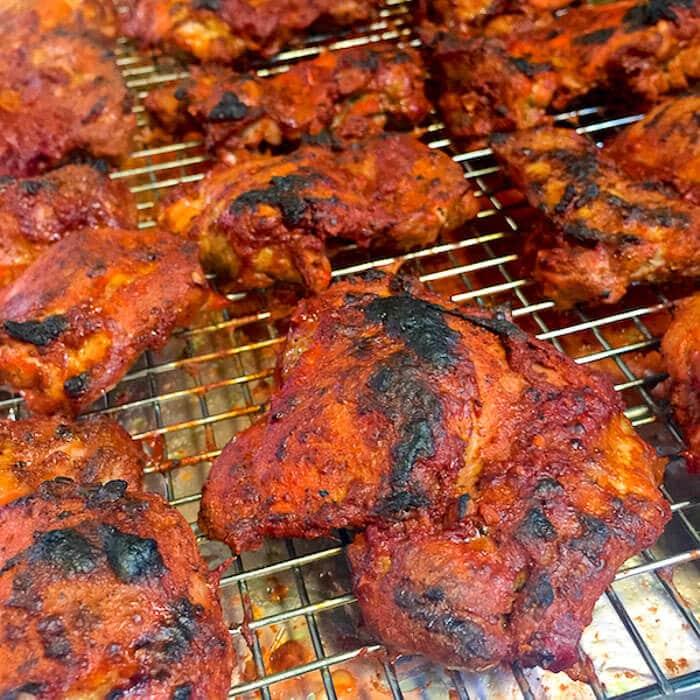 Chicken Tikka Masala after broiling.