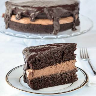 Chocolate Stout Cake with Baileys Truffle & Whiskey Glaze