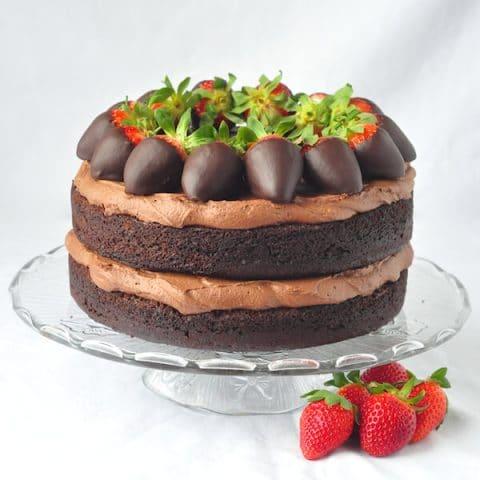 Chocolate Truffle Cream Cake - with a gluten free option.