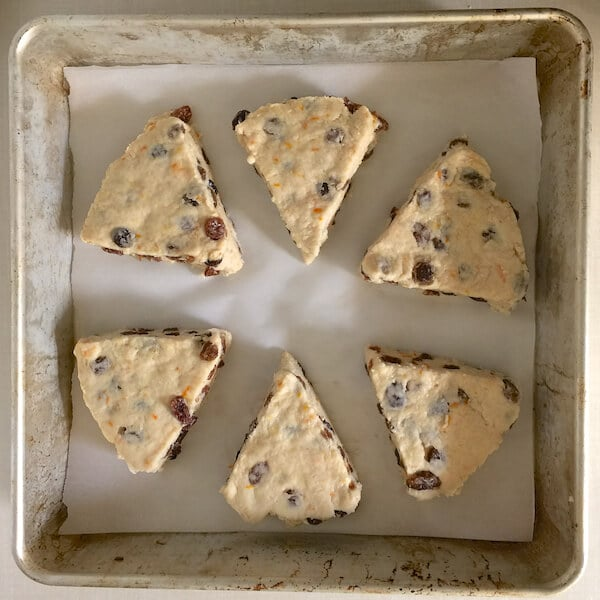 Orange Raisin Scones