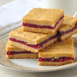 Raspberry Filled Cookie Bars