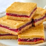 Raspberry Filled Cookie Bars close up image