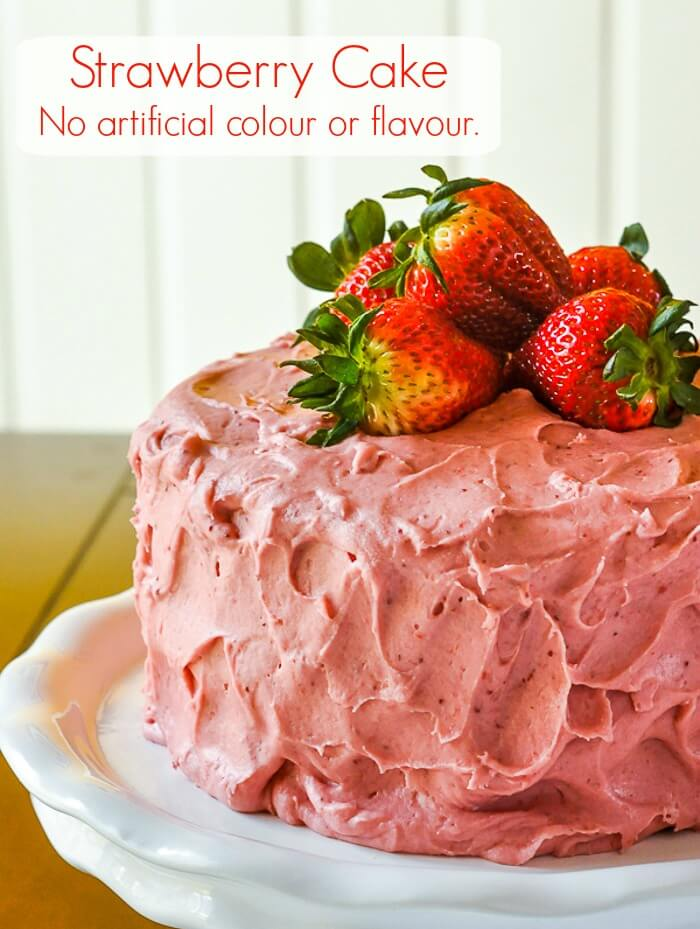 strawberry cake decoration strawberry cake no artificial colour or flavour added 7730