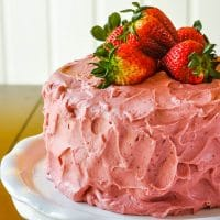 Strawberry Cake - no artificial colour or flavour added!