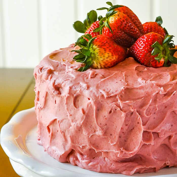 Beautiful Strawberry Cake Images : Strawberry Cake - no artificial colour or flavour added!