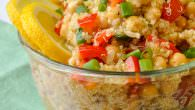 Chickpea Salad with Quinoa Lemon and Ginger