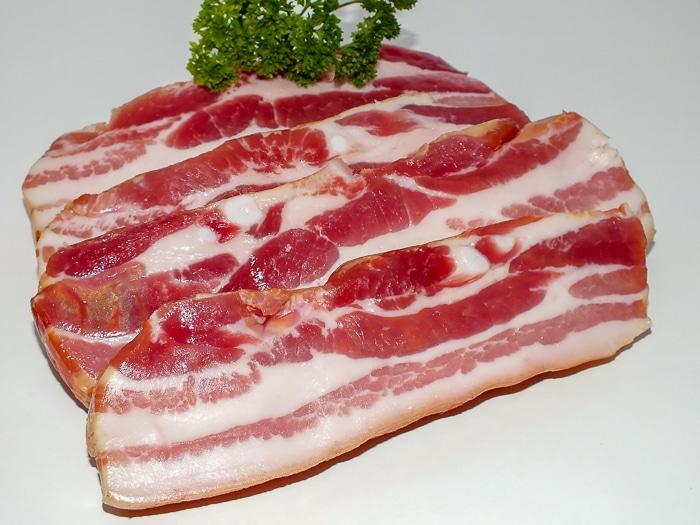 Sliced Pork Belly for uncured Homemade Bacon