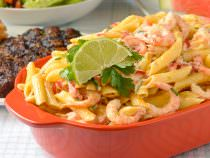 Penne Pasta Salad with Shrimp Chili and Lime