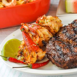 Maple Chili Lime Grilled Shrimp