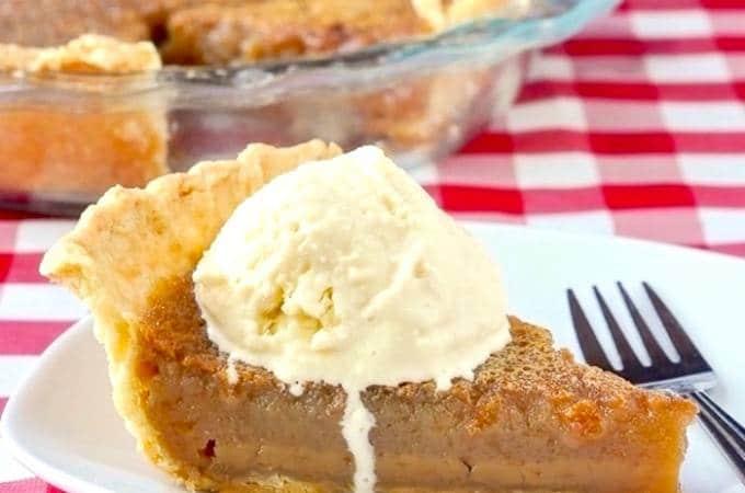Maple Pie photo with vanilla ice cream.