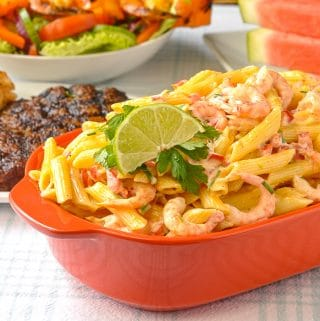 Penne Pasta Salad close up photo of