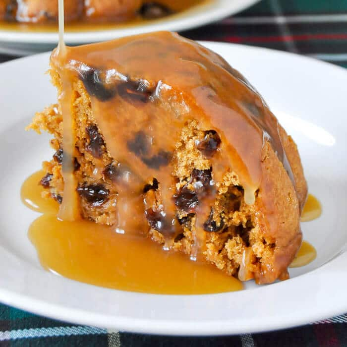 Steamed Molasses Raisin Pudding