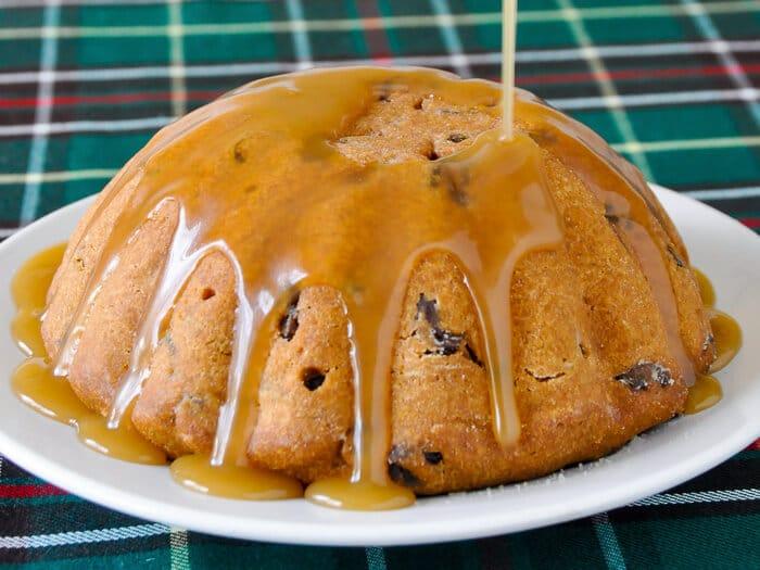 Steamed Molasses Raisin Pudding a.k.a. Newfoundland Molasses Duff