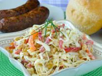 Dijon Coleslaw with Bell Peppers and Golden Raisins
