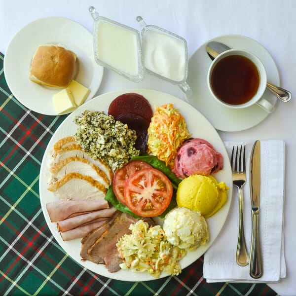A traditional Newfoundland Sunday Supper Cold Plate