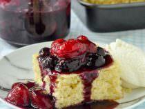 Quick Vanilla Cake with Bumbleberry Sauce
