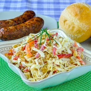 Dijon Coleslaw. Two different ways!