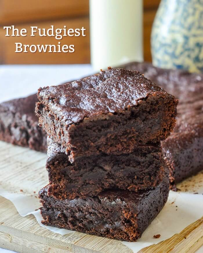 Fudge Brownies image with text