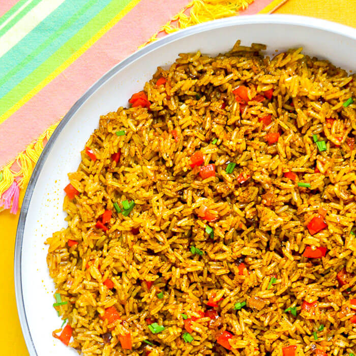 Spicy Turmeric Fried Rice