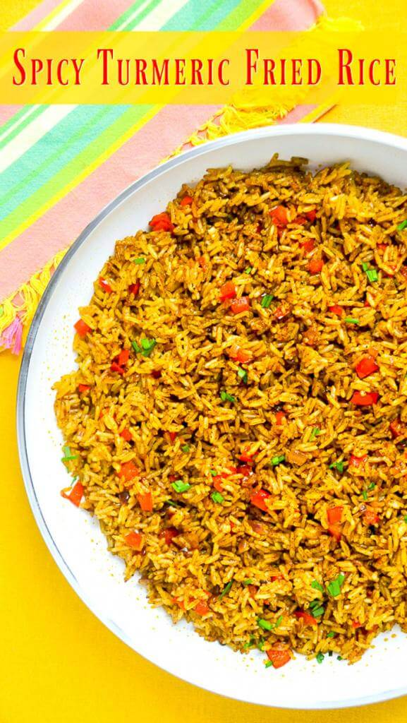 Spicy Turmeric Fried Rice image with title text