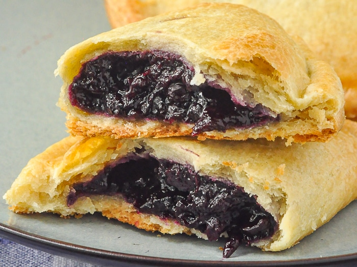 Blueberry Turnovers close up photo of filling