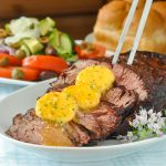 BBQ Prime Rib with Garlic Chili Butter