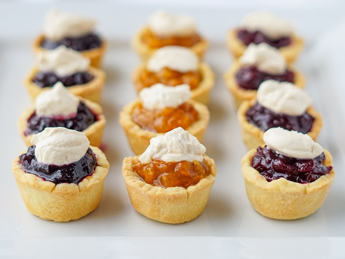 Blueberry, Bakeapple and Partridgeberry Jam Tarts