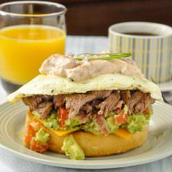 Steak & Eggs Breakfast Sandwich