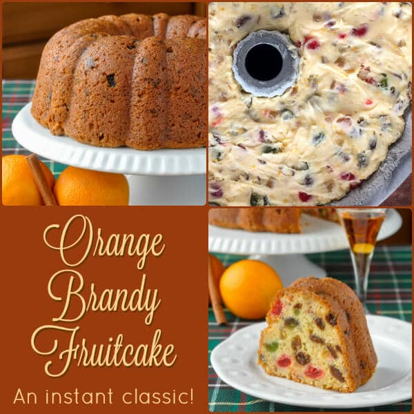 Orange Brandy Fruitcake collage