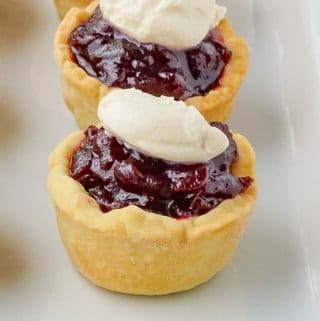 Partridgeberry Jam Tarts on a white serving plate