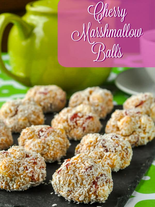 Cherry Marshmallow Balls image with title text