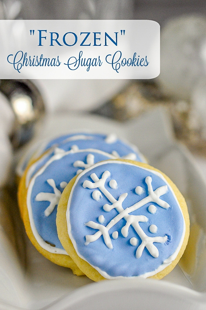 Christmas Sugar Cookies image with title text for Pinterest