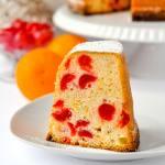 Cream Cheese Pound Cake with Cherries & Orange