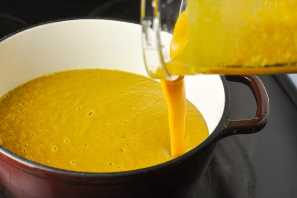 Sweet Potato Soup - with a touch of maple.