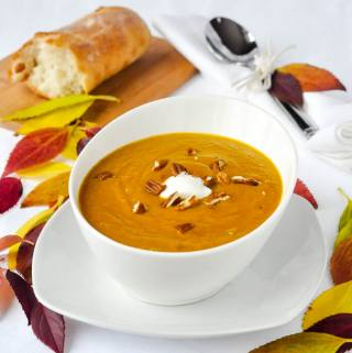Sweet Potato Soup – with a touch of maple.