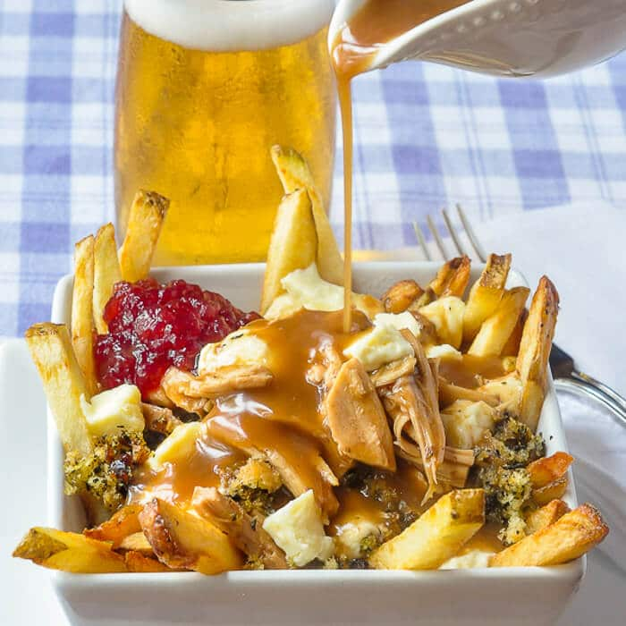 Leftover Turkey Poutine with Newfoundland Savoury Dressing