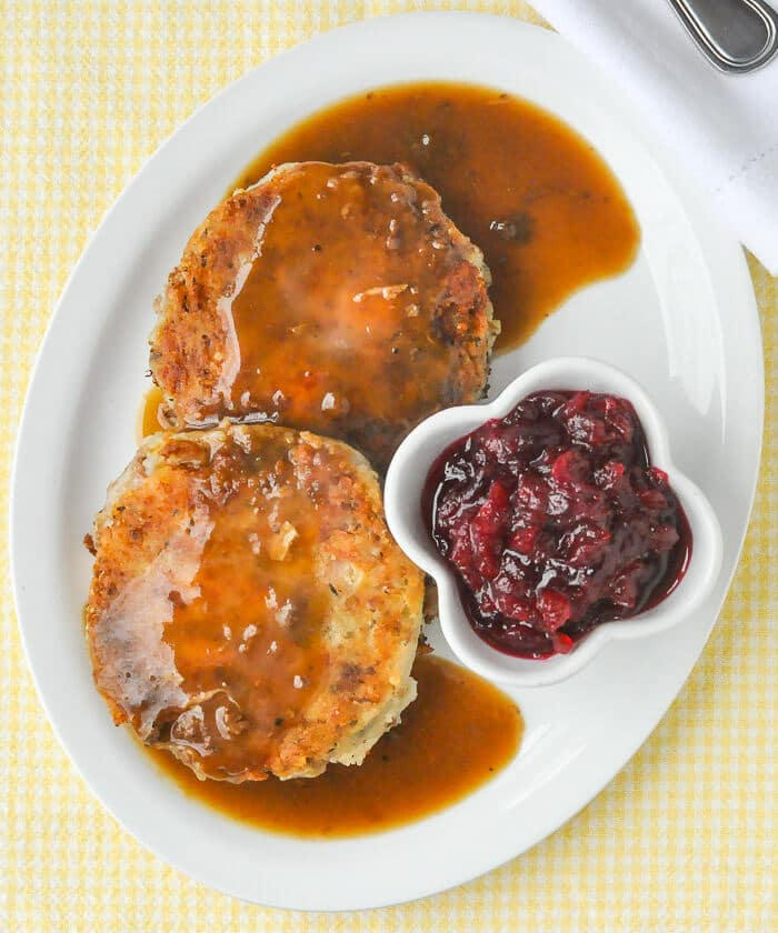 Leftover Turkey and Potato Cakes