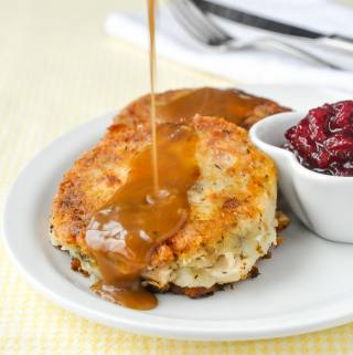 Leftover Turkey Potato Cakes