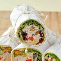 Turkey Waldorf Salad Sandwich Wraps
