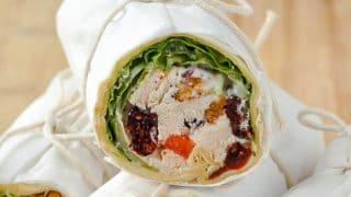 Turkey Waldorf Salad Sandwich Wraps with title text