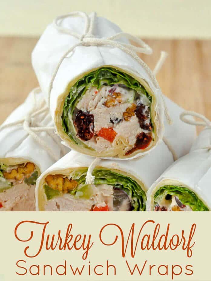 turkey waldorf salad sandwich wraps thanksgiving leftovers reimagined