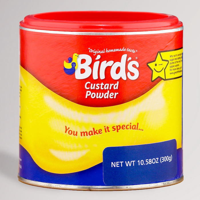 Photo of a can of Bird's Custard Powder