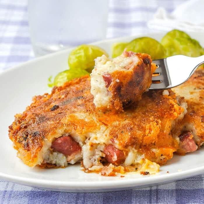 Cheddar Ham Potato Cakes