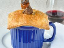 Easy Beef Bourguignonne Pot Pie in Corningware Meal Mugs