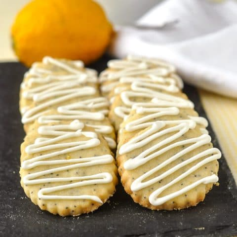 Lemon Poppy Seed Shortbread Cookies